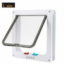 lucky treyvon Large Cat Door, (Outer Size 9.9 x 9.2 inch) 4 Way Locking Cat Flap
