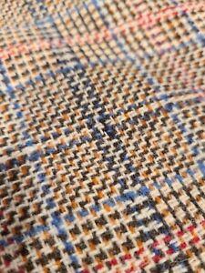 "VINTAGE Wool Blend 3 Pieces!!  Almost 4 yards total  X 60"" Browns and orange"