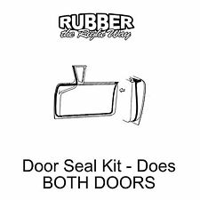 1957 1958 Ford & Edsel Door Seal Kit - Both Doors - 2 DR HT / Conv / Retractable