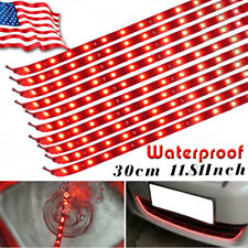 YITA - 10x 15 LED 30CM Red Waterproof Car Decration Flexible Light Strip Bar 12V