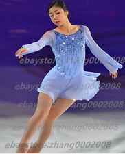 Ice skating dress.Blue Competition Figure Skating Dress /Baton Twirling Costume