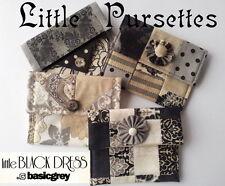 LITTLE BLACK DRESS PURSETTES KIT - SET 4 STYLES!- Incl Patterns &all Moda Fabric