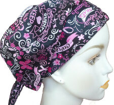 Cancer Awareness Chemotherapy Hat Hairloss Cotton Scarf Turban Hope Inspire Cure