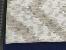 Abstract Zig Zag fabric weave remnant in grey/cream/natural  74cms