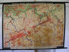 Murs carte mural carte Ennepe-ruhr-Cercle schwelm Hagen witten 163x117cm