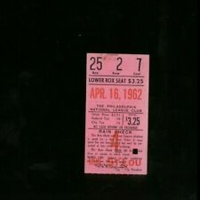 4/16/1962 St Louis Cardinals @ Philadelphia Phillies Baseball Ticket