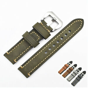 Watch Bands Top Layer Cowhide Genuine Leather Wristwatch Straps Parts 22mm Green