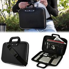 Black Leather Laptop Bag Tablet Case For 12 Inch Apple Macbook Air / Macbook Pro