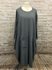 Moonshine Fashion Lagenlook Kleid Tunika Ballonkleid Übergröße 48 50 52 grau Neu