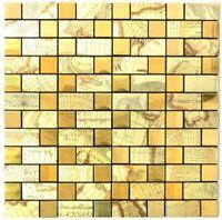 selbstklebende Mosaik Weltkarte GOLD Küchenrückwand Fliesenspiegel WB200-KA87G
