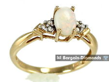 solid opal diamond 14K gold ring Australian red pink yellow green engagement