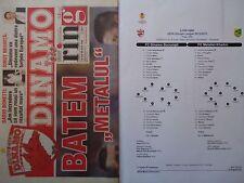 Programm & Line-ups UEFA CL 2012/13 Dinamo Bukarest - Metalist Charkov Kharkiv