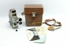Vintage Bell & Howell 333 8mm Video Movie Camera & Leather Case