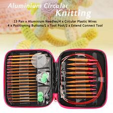 13 Sizes/Set Interchangeable Aluminum Circular Knitting Needle Sets 2.75mm-10mm