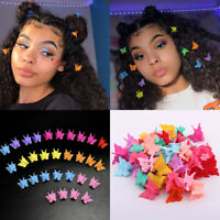 100pcs Butterfly Mini Hair Claw Small Cute Clips Headdress Girl Kids Women Gift