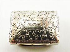 More details for antique silver vinaigrette hallmarked birmingham 1833 ref 556/3