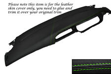 GREEN STITCHING TOP DASH DASHBOARD LEATHER COVER FITS RENAULT MEGANE MK1 96-03