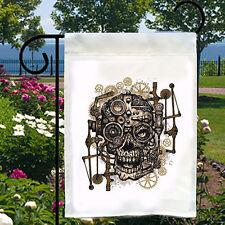 Steampunk Skull Gears New Small Garden Flag Banner Home Biz Bar Boat