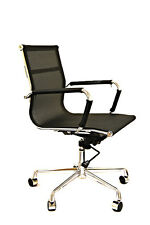Mesh Office Chair Recline Height Tilt Adjust Chrome Base
