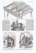 1850 Hyde Park ESPOSIZIONE Perforatrice punzonatura base della colonna vetri ROO