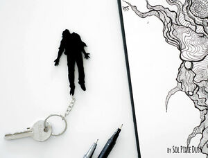 Key chain - Halloween Night of the Living Dead Zombies - Silhouette