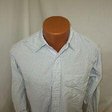 (6) Women's Ralph Lauren Light Blue White Striped Long Sleeve Shirt