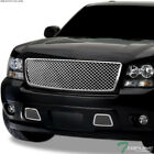 Topline For 2007-2014 Chevy Tahoesuburban Mesh Front Bumper Grille 1pc - Chrome