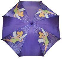 "Disney Girl's Tinkerbell Purple Plaid""Sweet Pixie"" Umbrella for girls kids"