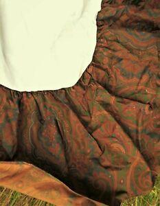 "RALPH LAUREN Vintage but UNUSED 4' 6"" double paisley pattern valance, bed skirt"