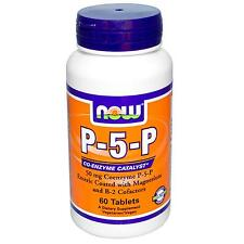 Now Foods p-5-p - Coenzima Vitamina B6-X 50 60mg ENTERO Pastillas Piridoxina