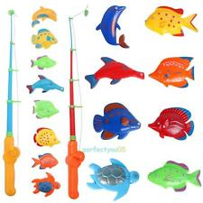 Magnetic Fish Game Set Toy Rod 8 Fish Catch Hook Pull Children Bath Educational
