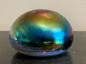 Vintage Iridescent Stars Signed 1989 Paperweight