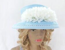 Ladies 'Gregory Ladner' Millinery Hat - Blue/White - Formal Races Wedding PL714