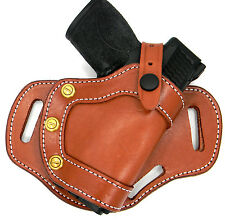 CEBECI Brown Leather RH Small of Back SOB OWB Belt Holster - SIG SAUER P239