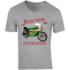 BENELLI 250 1969-neuf coton gris col V T-Shirt