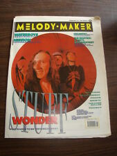 MELODY MAKER 1989 FEBRUARY 25 WONDER STUFF WATERBOYS MISSION EIGHTIES POISON