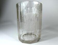 verre chasse main, gravée année 1866