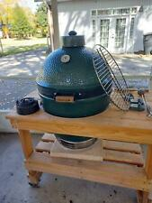 Large Big Green Egg plus rolling Table and cover Local Pick Up Only