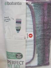 Brabantia Cotton Ironing Board Cover B 124cm x 38cm  8mm Padding Striped Design