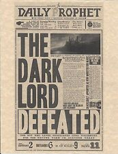 Harry Potter The Daily Prophet The Dark Lord Defeated Flyer/Poster Prop/Replica