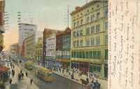 NEW YORK CITY–Twenty-Third Street Shopping District Glitter Covered Postcard-udb