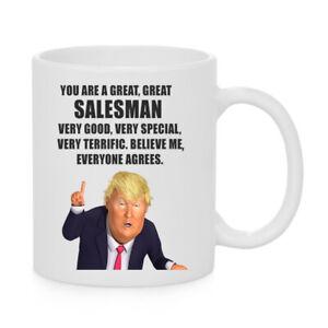 PRESIDENT DONALD TRUMP SALESMAN COFFEE MUG