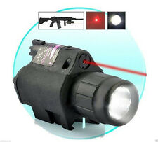 2 in 1 CREE Q5 LED Tactical Insight Red Laser Flashlight Sight Combo For Gun