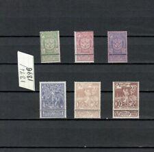 Belgium  BELGIQUE EUROPE  COMPLETE  MH set HCV   YEAR 1896  LOT (BELG 313)