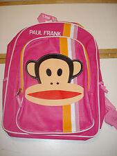 Youth Children Toddler Student Bag Cute Paul Frank Backpack Girls Stripes Pink