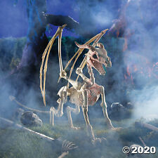 Halloween Decoration Lifesize Animated Dragon Skeleton Prop Halloween Yard Decor
