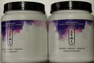 Zeal for Life-30 Day Wellness Canister-Bold Grape 420g Exp:02/2022(2 Canister)