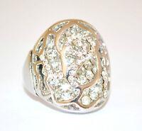 ANELLO ARGENTO BRILLANTINI donna strass fedina CRISTALLI  ring inel anneau 160