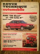 Revue Technique Automobile AUDI 80 Diesel et 80 Turbo D depuis 1989