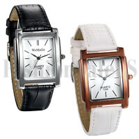 Square Dial Simple Women Ladies Girl Leather Band Analog Quartz Wrist Watch Gift